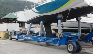 New 40t Marine Yard Trailer in Seychelles