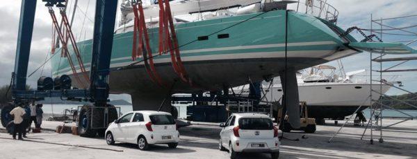 TSN lifts Sailing Yacht GLISS